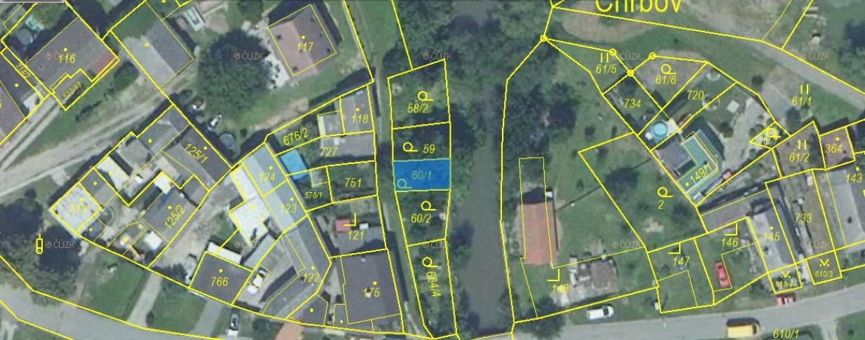 Pozemek o velikosti 55 m2, Lobodice