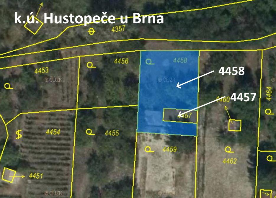 Pozemek o velikosti  442 m2, Hustopeče u Brna,