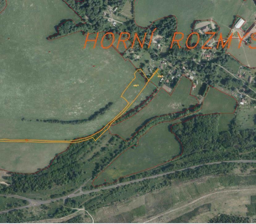Pozemek o velikosti  16107 m2, Horní Rozmyšl