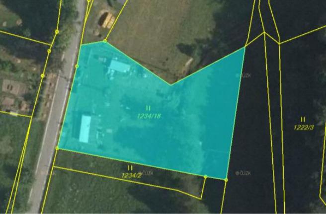 Podíl pozemku o velikosti 1/8 v k. ú. Krasov, okr.